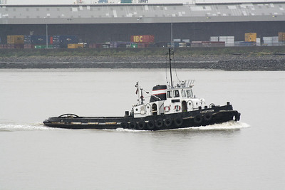 AICITRON (London) - IMO8828393 - Tug - GBR/109/67 Scheeps Wilton Fijenoord, Schiedam - 25.3 x 6.8 - Thames & Medway Towage - going downriver, 21/10/09.