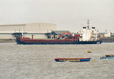 AASNES (Haugesund) - IMO7928251 - Cargo - NOR/4015/81 Svendborg Skibs, No.165 - 94.4 x 15.5 - Aasen Shipping AS. Mosterhamn - 2010 VISNES (GIB) - Gravesend, inward bound, 26/09/07.