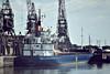 UME (Hamburg) - IMO7431662 - Cargo - DEU/2130/75 JJ Sietas Schiffswerft, Hamburg, No.711 - Type 72C - 75.8 x 12.0 - still trading as RANAFJORD (SKN) - Boston, unloading fertiliser, 07/81.