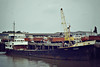 TRADER (San Lorenzo) - IMO5414141 - Cargo - HND/843/63 Scheeps de Groot & van Vliet, Slikkerveer, No.353 - 56.4 x 9.1 - Filaed Cia Naviera SA - still trading as ANDREWSON (HND) - Wisbech, unloading fertiliser, 08.83.