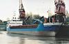 SELENE PRAHM (Leer) - IMO9100059 - DEU/2422/94 Schiffs Kotter, Haren Ems, No.88 - 75.1 x 11.7 - Hammann & Prahm Reederei - Port Sutton Bridge, loading grain, 09/04/08.