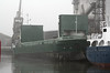 SNOWLARK (Kingstown) - IMO8412417 - Cargo - VCT/1555/84 Schiffs Hermann Suurken, Papenburg, No.331 - 74.9 x 10.6 - Vista Shipping, Tallinn - Kings Lynn, loading grain in Bentinck Dock, 13/12/10.
