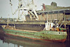 SUBRO VICTOR (London) - Wisbech, unloading soya meal at Tradax, 12/84.