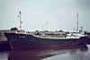 SEA THAMES (Nassau) - IMO7320083 - Cargo - BHS/757/73 Stocznia Tczew, No.B363/01 - 53.5 x 9.1 - Freight Express Seacon - still trading as LAZARUS I (PAN) - Wisbech, to load grain, 07/81.
