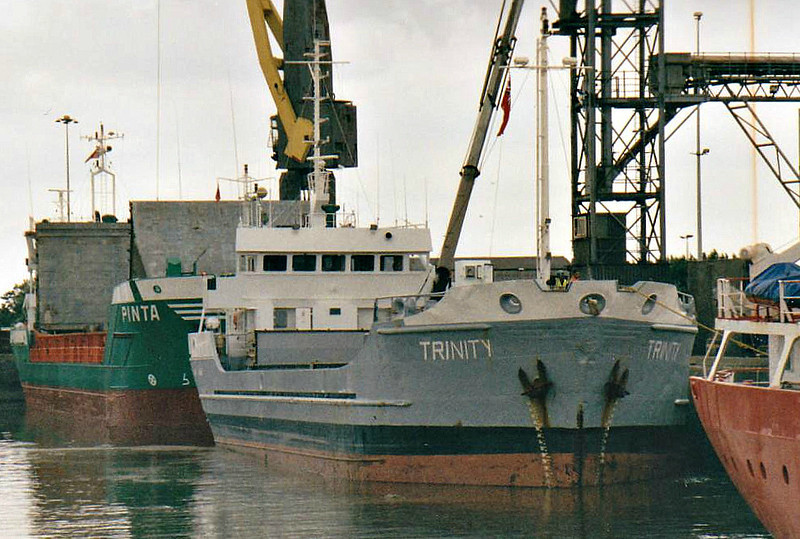TRINITY (Bridgetown) - IMO8421717 - Cargo - BRB/1544/86 Scheeps Bodewes, Hoogezand, No.551 - 63.8 x 11.9 - Faversham Ships - 2008 DON ANDRES K (CHL) - still trading - Boston, loading grain, 08/08/07.