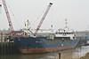 RMS LAAR (St Johns) - IMO8508400 - ATG/2304/85 Schiffs Hugo Peters, Wewelsfleth, No.611 - 82.5 x 11.4 - Rhein Maas & See Schiffs - Wisbech, unloading bricks from Aalst, 26/02/13.
