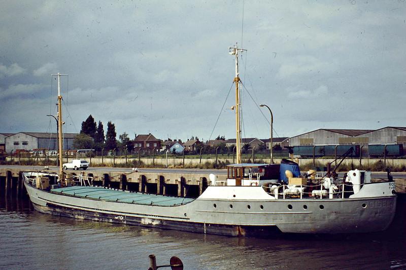 ROYE (Panama) - IMO5131220 - Cargo - PAN/470/61 Schiffs Alfred Hagelstein, Travemunde, No.604 - 47.1 x 8.4 - Windward Passage Shipping Ltd - Wisbech, to unload fertiliser, 06/81 - still trading as SV NIKOLA (HRV).