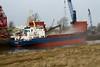 SEA HUNTER (Bridgetown) - IMO8914154 - Cargo - BRB/3181/90 Estaleiros Navais, Viana do Castelo, No.155 - 87.6 x 13.0 - Torbulk Shipping, Grimsby - Port Sutton Bridge, loading grain,12/02/09.