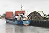 VIPER (St Johns) - IMO8511029 - Cargo - ATG/2379/86 Husumer Schiffs, No.1500 - 82.0 x 11.5 - Erwin Strahlmann - Wisbech, loading scrap on Crabmarsh Quay, 24/01/08 - 2008 PERSEAS, 2013 SIMON B (ATG) - still trading.