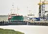 SEA RISS (Delfzijl) - IMO9030216 - Cargo - NLD/2500/92 Scheeps Bijlsma, Wartena, No.657 - 79.7 x 11.0 - Aludra Scheeps BV - Boston, in the entrance lock, about to sail, 30/08/07.