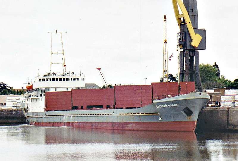 VASILIY MALOV (St Petersburg) - IMO7612486 - Cargo - RUS/2554/78 Valmet OY, Turku, No.368 - Type 613 - 95.0 x 13.2 - North Western Shipping Co. - Boston, unloading timber, 20/06/07.