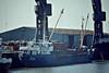 VERALIL (Esbjerg) - IMO7321453 - Cargo - DMK/711/73 Nordsovaerftet, Ringkobing, No.75 - 49.7 x 8.3 - Boston, unloading steel, 04/82 - still trading as LIAN LESTARI 4 (IDN).