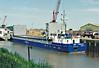 RMS VINDAVA (Belize City) - IMO8814201 - Cargo - BLZ/1739/89 Schiffs Hermann Suurken, Papenburg, No.359 - 74.9 x 10.6 - Rhein Maas & See Schiffs - Wisbech, unloading bricks. 08/08/07.