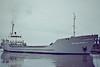 WILHELMINA V (Rotterdam) - IMO7420948 - Cargo - NLD/1399/75 Scheeps Bijlsma, Wartena, No.595 - 65.7 x 10.8 - International Shipbrokers - still trading as FORTUNE - Wisbech, swinging, inward bound to unload soya meal, 08/83.