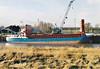 WALTER HAMMANN (Wischhafen) - IMO8704841 - Cargo - DEU/1323/88 Schiffs Kotter, Haren Ems, No.82 - 58.8 x 11.7 - Hammann & Prahm Reederei - Sutton Bridge, unloading steel, 02/01/08.