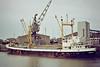 ST ALBAN (Hamburg) - IMO6416720 - Cargo - DEU/900/64 JJ Sietas Schiffswerft, Hamburg, No.519 - 58.1 x 9.7 - Ellen Holst - still trading as NINES AGADIR (HND) - Boston, unloading soya meal, 11/83.