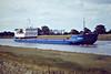 TYUMEN-3 (Novorossiysk) - IMO8832083 - Cargo - RUS/3152/90 ZTS Yard, Komarno, No.2335 - 116.1 x 13.4 - Reskom Tyumen Ltd. - Port Sutton Bridge, going astern up the River Nene, 26/06/08.