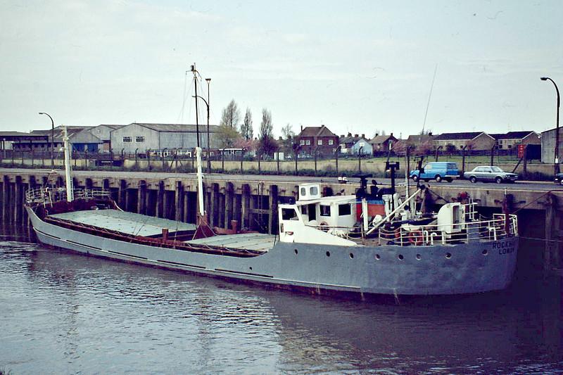 ROCKHAVEN (London) - IMO6617879 - Cargo - GBR/600/66 Scheeps Brugeoise, No.42 - 52.9 x 8.2 - Longhaven Carriers Ltd., Jersey - 01/94 broken up - Wisbech, 05/81.