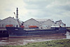 WIGGS (London) - IMO8012803 - Cargo - GBR/1140/81 Nordsovaerftet, Ringkobing, No.145 - 45.6 x 9.5 - Eggar Forrester Ltd - 02/07 broken up at Aliaga - Fosdyke, unloading fertiliser, 04/82.