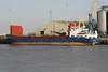 SEA HUNTER (Bridgetown) - IMO8914154 - Cargo - BRB/3181/90 Estaleiros Navais, Viana do Castelo, No.155 - 87.6 x 13.0 - Torbulk Shipping, Grimsby - Kings Lynn. loading grain on Alexandra Quay, 18/12/08.