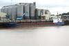 SEA KESTREL (Georgetown) - IMO9006459 - Cargo - CYM/2225/93 Yorkshire Drydock Co., Hull, No.328 - 77.7 x 11.8 - Torbulk Shipping, Grimsby - Kings Lynn, unloading animnal foodstuff on Alexandra Quay, 05/10/10.