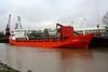 WANI WILL (Bridgetown) - IMO7638521 - Cargo - BRB/2250/78 Orens MV, Trondheim, No.66 - 70.0 x 12.7 - Continental Shipping, Norway - Port Sutton Bridge, loading grain, 09/04/09.