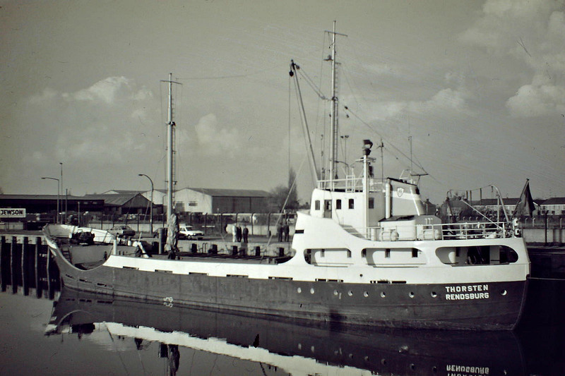 THORSTEN (Rendsburg) - IMO5169655 - Cargo - DEU/742/55 Stader Schiffs, No.169 - 49.0 x 8.8 - Uwe Manthe - Wisbech, to unload fertiliser, 03/85.