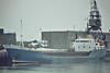 URKIA (Bilbao) - IMO7504770 - Cargo - ESP/1100/76 Astilleros Balenciaga, Zumaya, No.269 - 60.3 x 10.4 - still trading as ORKIA II (DEU) - Boston, 12/81.