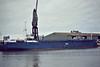 STEPHANIE SIEMER (Lubeck) - IMO7910864 - Cargo - DEU/2422/80 JJ Sietas Schiffswerft, Hamburg, No.895 - still trading as LOVINDA (VCT) - Boston, unloading steel, 08/82.