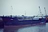 WIGGS (London) - IMO8012803 - Cargo - GBR/1140/81 Nordsovaerftet, Ringkobing, No.145 - 45.6 x 9.5 - Eggar Forrester Ltd. - 02/07 broken up at Aliaga - Wisbech, loading grain, 11/81.