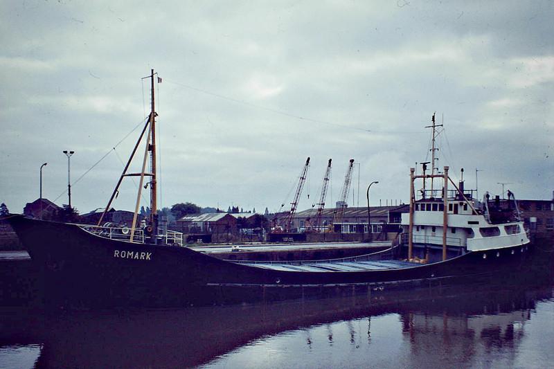 ROMARK (Jersey) - IMO5042182 - Cargo - GBR/620/57 Schiffs C Luhring, Brake, No.5703 - 52.3 x 8.5 - Pelham Dale & Partners - Wisbech, 09/81 - 01/11/03 scuttled off St Vincent.