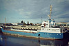 SKELLIG ROCK (Cork) - IMO7422532 - Cargo - IRL/1240/78 Hancocks Shipbuilding Co., Pembroke Dock, No.RH2 - 64.0 x 10.8 - Coal Distributors Ltd. - Wisbech, unloading fertiliser, 09/81.