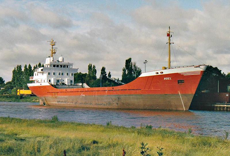 ROEL (Belize City) - IMO8202757 - Cargo - BLZ/3152/83 Scheeps Bodewes Gruno, Foxhol, No.256 - 81.6 x 14.1 - Balchart Estonia Ltd - 2009 FEYZ-I (TKY) - Port Sutton Bridge, loading grain, 15/-7/07