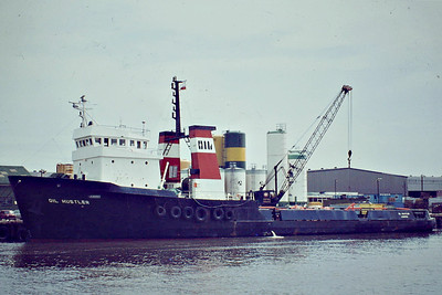 OIL HUSTLER (London) - IMO7422269 - Tug/Offshore Supply Ship - GBR/1037/76 Scheeps Hollandsche, Groot Ammers, No.315 - 61.5 x 13.1 - Oil Shipping - still trading as ASIAN FORCE (VTU) - Great Yarmouth, 07/83.