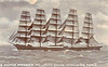 1902 to 1910 - PREUSSEN - 5-masted ship - 5081GRT - 124.3 x 16.3 - 1902 Schiffs Tecklenborg, Geestemunde, No.179 - F Laeisz & Co. - 06/11/10 in collision with BRIGHTON (GBR/1129/03) 8nm south of Newhaven, bowsprit and fore topmast carried away. Unable to steer, a tug was snet ot tow her to Dover but gales prevented this and she was anchored off Dover. both anchors carried away and she was driven onto rocks in Crab Bay. Most of her cargo was removed but, as her keel was broken, she was unsalveable.