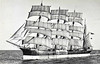 1892 to 1949 - LAWHILL - 4 masted barque - 2942GRT - 96.7 x 13.7 - 1892 WB Thompson & Co., Dundee, No.112 - ssen here during early World War 2 when owned by Gustaf Erikson and Finland was still neutral, 1942 taken by South Africa as a prize after Finland joined hostilities on German side, 1949 laid up at Lourenco Marques, 1957 beached, 1959 broken up.