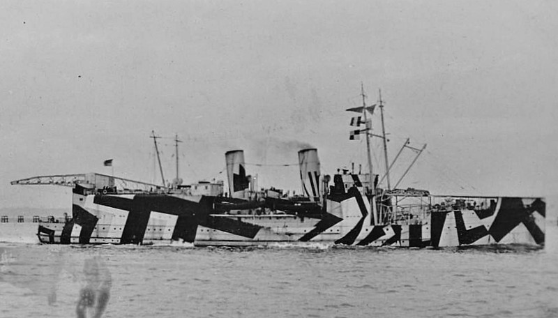 1917 to 1920 - NAIRANA - Land/seaplane Carrier - 3547 tons - 107.0 x 13.9 - 1917 W Denny & Bros., Dumbarton - 4x3in., 7 a/c - 20 knots - 02/17 taken over whilst building, converted to land/seaplane carrier - 08/17 Grand Fleet, 08/18 Russia, 1920 returned to Australian owners, 1948 laid up, 18/02/51 wrecked at Melbourne, broken up in situ.