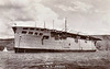 1918 to 1945 - ARGUS (I49) - Aircraft Carrier - 14450 tons - 172.2 x 20.7 - 1918 Wm Beardmore & Co., Dalmuir - 6x4in., about 18 a/c - 20 knots - 1916 taken over by the Admiralty on the stocks while building as Italian liner CONTE ROSSO, 1918 completed as first carrier with full-length flight deck, 1922 Dardanelles, 09/28 China Station, 09/32 to Reserve, 07/38 training carrier, 07/40 Aircraft Delivery Duties, 10/42 Operation Torch, 01/43 training duties, 01/45 accomodation ship, 12/45 sold for breaking - seen here in October 1938.