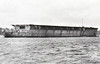 1924 to 1942 - HERMES (95) - Aircraft Carrier - 10850 tons - 182.9 x 21.4 - 1924 Armstrong Whitworth & Co., Walker - 6x5.5in., 4x4in.AA, 20 a/c - 25 knots - first purpose-built aircraft carrier in the world - 02/24 Mediterranean, 08/25 China Station, 05/37 to Reserve at Devomport, 09/39 Western Approaches, 12/40 East Indies Station, 05/40 Atlantic Convoy Escort Duties, 01/41 East Indies Station, 03/42 Eastern Fleet, 09/04/42 sunk south of Ceylon by 40 250lb bombs from Japanese carrier aircraft, 306 dead - seen here in 1920, after launching, well before completion.