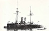 1876 to 1904 - TEMERAIRE - Ironclad Battleship - 8677 tons - 87.0 x 19.0 - 1876 HM Dockyard, Chatham - 4x11in., 4x10in., 6x60pdr., 2 Torpedo Carriages - 14.5 knots - 1877 Mediterranean, 1891 to Reserve, 1904 Stokers Training Ship, renamed INDUS II, 1915 Prison Ship, renamed AKBAR, 05/21 sold for breaking.