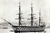 1859 to 1893 - VICTORIA - First Rate Auxiliary 3-decked Ship-of-the-Line - 6959 tons - 79.0 x 18.0 - 1959 Portsmouth Naval Dockyard - 62x8in., 58x32pdr., 1x68pdr - 12 knots (sail), 13 knots (steam) - last and largest 3-deck ship-of-the-line - to Reserve on completion, 1864 Mediterranean Fleet, 1867 Spithead Review, then to Reserve, 1893 sold for breaking - seen here at Malta in about 1865.