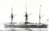 1866 to 1904 - BELLEROPHON - Central Battery Ironclad - 7551 tons - 91.4 x 17.1 - 1866 HM Dockyard, Chatham - 10x9in., 5x7in. - 14 knots - 1866 Channel Fleet, 1871 Mediterranean, 1873 North America, 1892 Guardship, Pembroke, 1904 Stokers Training Ship, INDUS III, 12/22 sold for breaking,