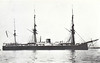 1869 to 1902 - MONARCH - Turret Battleship - 8322 tons - 100.0 x 17.5 - 1869 HM Dockyard, Chatham - 4x12in., 2x9in. - 13 knots - world's first seagoing turret warship - 1869 Channel Fleet, 1876 Mediterranean, 1885 Channel Fleet, 1890-97 refit and modernisation, 1897 Guardship, Simon's Bay, 1902 Depot Ship, renamed SIMOON, 1905 sold for breaking.