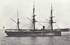 1871 to 1893 - IRON DUKE - Audacious Class Battleship - 6034 tons - 104.3 x 16.0 - 1871 HM Dockyard, Pembrtoke Dock - 10x9in., 4x6in., 6x20pdr. - 13 knots - 1871 China Station, 01/09/1875 rammed and sank sistership VANGUARD in Dublin Bay in thick fog, 1877 China Station, 1885 Particular Service Sqdn., 1890 to Reserve, 1893 decommisioned, 1900 reduced to Coal Hulk, 05/06 sold for breaking.