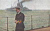 7 - ADMIRAL SIR JOHN JELLICOE ON BOARD HMS IRON DUKE - Commander od the Grand Fleet from the outbreak of war in August 1914 until his removal after the Battle of Jutland - posted August 30th, 1917.