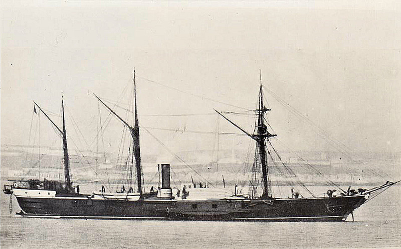 1833 to 1883 - SALAMANDER - Paddle Sloop - 1014 tons - 53.5 x 9.8 - 1833 Sheerness Dockyard - 2x10in., 2x32pdr - 7 knots - 1836 Spain, 1840 decommissioned, 1842 South America, 1850 East Indies, 1855 West Africa, 1857-63 refit and modernisation, 1863 Australia, 1867 to Reserve, 1883 sold for breaking.
