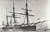 1883 to 1907 - DOLPHIN - Composite Screw Sloop - 925 tons - 47.9 x 9.8 - 1883 Sir Raylton Dixon & Co., Govan - 2x6in., 2x5in. - 1899 Sail Training Ship, 1907 hulked, 1912 Submarine Depot Ship, 04/25 sank, beached, used as School Ship, 1977 broken up.
