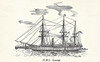 1878 to 1903 - GANNET - Doterel Class Screw Composite Sloop - 1130 tons - 52.0 x 11.0 - 1878 Sheerness Royal Dockyard - 2x7in., 4x64pdr - 11.5 knots - 1878-83 Pacific, 1883-885 refit, 1885 Mediterranean Anti-Slavery Patrol, 09/88 Battle of Suakin, 1895 Harbour Service, Chatham, 1900 accomodation ship at Port Victoria, 1903 RNVR Drill Ship, River Thames, renamed HMS PRESIDENT, 1913 accomodation ship to Training Ship MERCURY on River Hamble, 1968 Maritime Trust, Chatham, now preserved in 1888 condition.