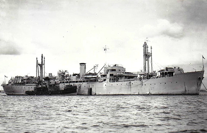 1945 to 1959 - BUCHAN NESS - Fort Type Landing Craft Maintenance Ship - 7300GRT/10000DWT - 134.6 x 17.4 - 1945 West Coast Shipbuilders, Vancouver, No.151 (Canadian Type) - 11 knots - 09/59 sold for breaking - seen here in 08/46.