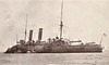 1890 to 1926 - BLENHEIM - Blake Class Protected Cruiser - 9150 tons - 114.0 x 20.0 - 1890 Thames Ironworks, London - 2x9.2in., 10x6in., 4TT - 22 knots - 1890 Channel Sqdn., 1907 Destroyer Depot Ship, Mediterranean Fleet, 03/15 Depot Ship, Mudros, 07/26 sold for breaking - seen here as Depot Ship - posted August 21st, 1913.
